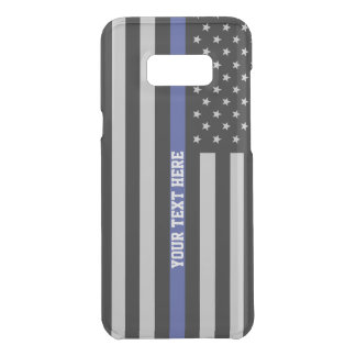 Thin Blue Line - American Flag Personalised Custom Uncommon Samsung Galaxy S8 Plus Case