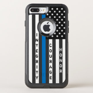 Thin Blue Line American Flag Personalized Case