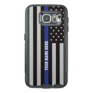 Thin Blue Line - American Flag Personalized Custom OtterBox Samsung Galaxy S6 Case