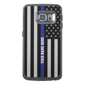 Thin Blue Line - American Flag Personalized Custom OtterBox Samsung Galaxy S6 Edge Case