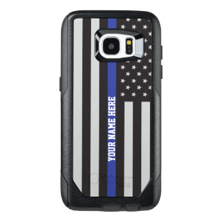 Thin Blue Line - American Flag Personalized Custom OtterBox Samsung Galaxy S7 Edge Case