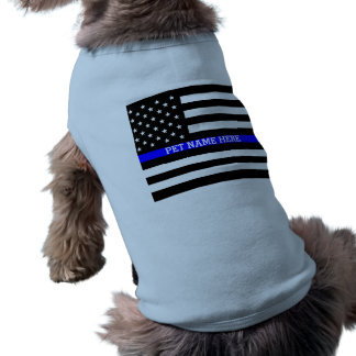Thin Blue Line - American Flag Personalized Custom Shirt