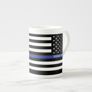 Thin Blue Line - American Flag Personalized Custom Tea Cup