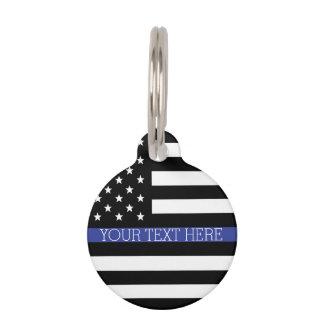 Thin Blue Line - American Flag Pet ID Tag