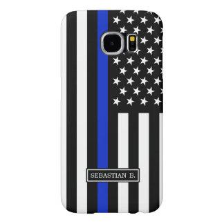 Thin Blue Line American Flag Samsung Galaxy S6 Cases