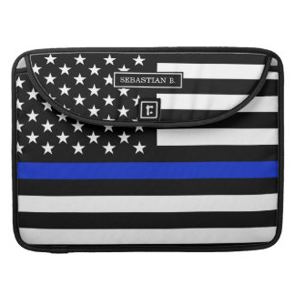 Thin Blue Line American Flag Sleeve For MacBook Pro