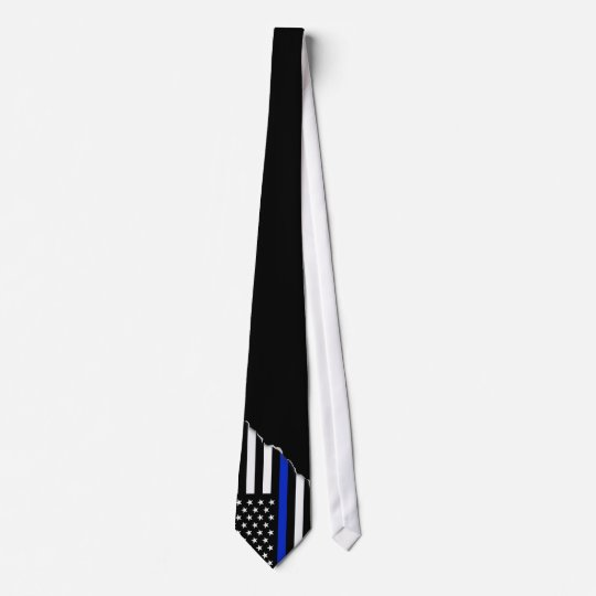 Thin Blue Line American Flag | Torn out