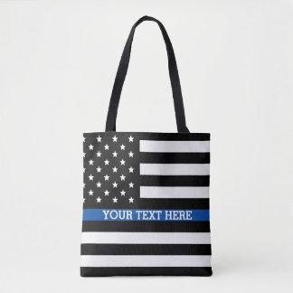 Thin Blue Line - American Flag Tote Bag