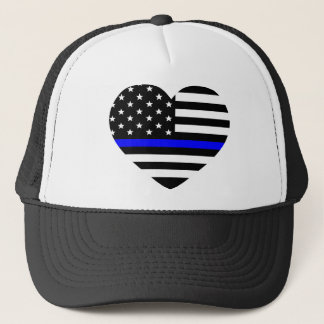 Thin Blue Line - American Flag Trucker Hat