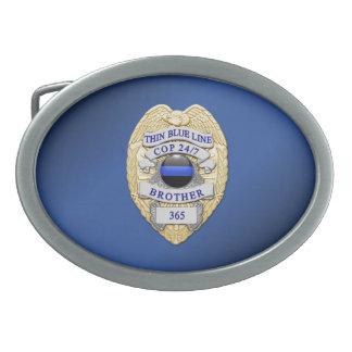Thin Blue Line Badge Belt Buckles