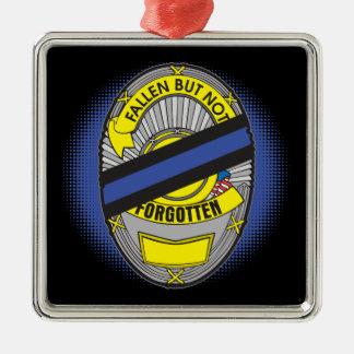 Thin Blue Line Badge Christmas Ornament