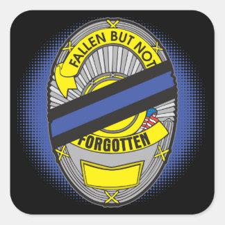 Thin Blue Line Badge Square Sticker