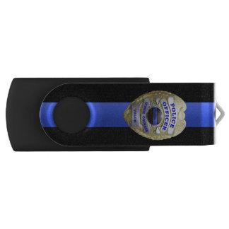 Thin Blue Line Badge USB Flash Drive
