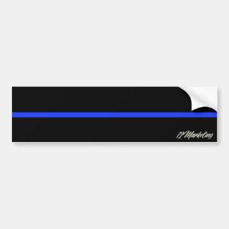 Thin Blue Line Bumper Sticker Police Officer