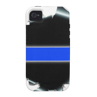 Thin Blue Line iPhone 4/4S Covers