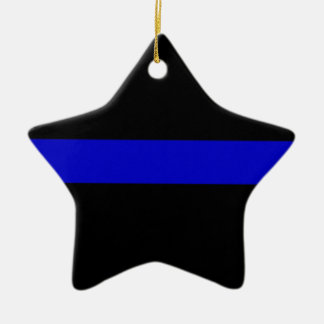 Thin Blue Line Ceramic Star Decoration