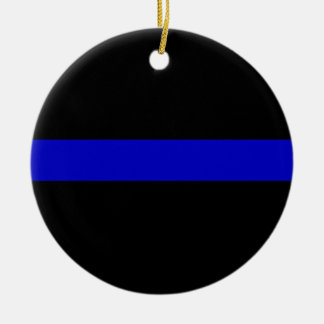Thin Blue Line Christmas Ornament