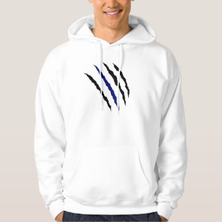 Thin Blue Line Claw; Proverbs 28:1-28 Back Hoodie