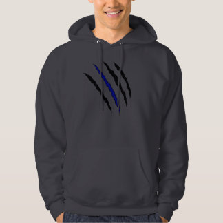 Thin Blue Line Claw; Proverbs 28:1-28 Hoodie