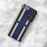 Thin Blue Line Cross - Blue Cross iPhone 6 Case