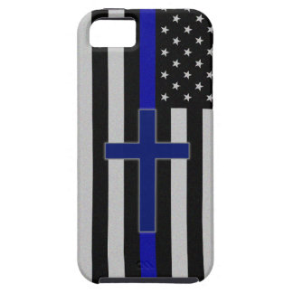 Thin Blue Line Cross - Blue iPhone 5 Case