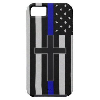 Thin Blue Line Cross Case For The iPhone 5