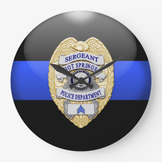 Thin Blue Line - Custom 1 Large Clock