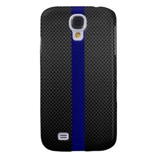 Thin Blue Line Custom Carbon Fibre Galaxy S4 Case