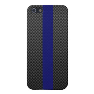 Thin Blue Line Custom Carbon Fibre iPhone 5/5S Covers