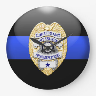 Thin Blue Line - Custom Lt Large Clock