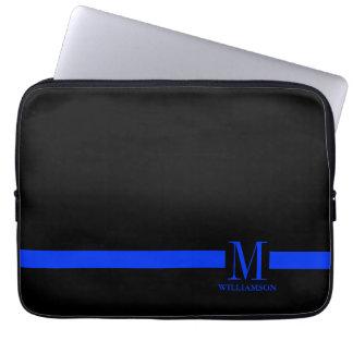 Thin Blue Line Custom Monogram Laptop Sleeve