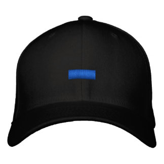 Thin Blue Line Embroidered Hats
