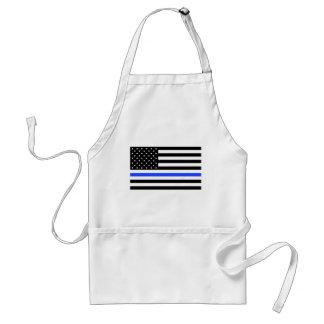 Thin Blue Line Flag apron