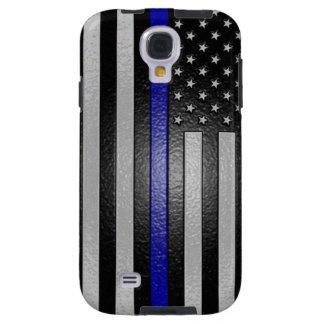 Thin Blue Line Flag Edged Galaxy S4 Case