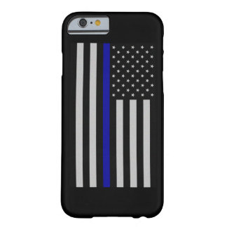 Thin Blue Line Flag Fitted Barely There iPhone 6 Case
