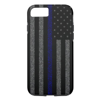 Thin Blue Line Flag Grunge iPhone 7 Case