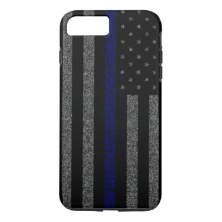 Thin Blue Line Flag Grunge iPhone 7 Plus Case