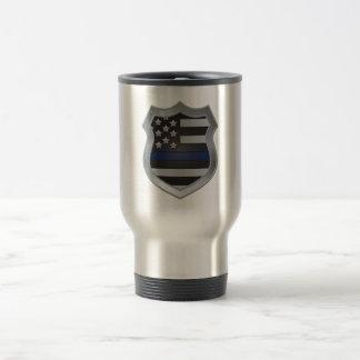 Thin Blue Line Flag Shield Mug