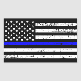 Thin Blue Line Flag Sticker