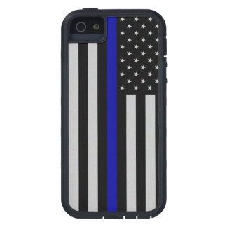 Thin Blue Line Flag Tough Xtreme iPhone 5 Case