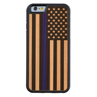Thin Blue Line.flag USA Carved Cherry iPhone 6 Bumper Case