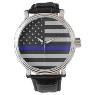 Thin Blue Line Flag Wristwatches