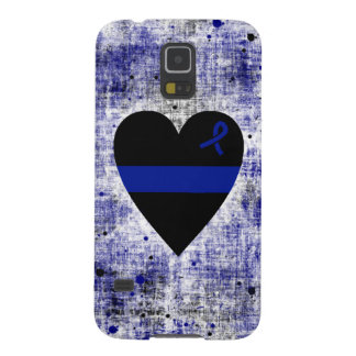 Thin Blue Line Heart Galaxy S5 Cover