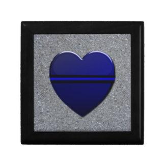 Thin Blue Line Heart Gift Box