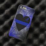 Thin Blue Line Heart iPhone 6 Case Tough iPhone 6 Case