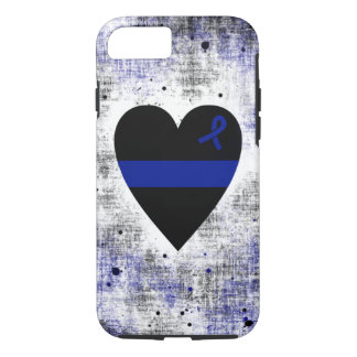 Thin Blue Line Heart iPhone 8/7 Case