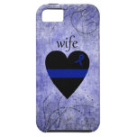 Thin Blue Line Heart Police Wife iPhone 5/5S Case