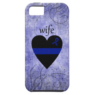 Thin Blue Line Heart Police Wife iPhone 5 Covers