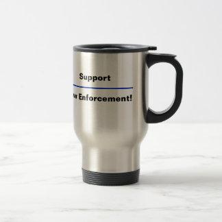 """Thin Blue Line"" Law Enforcement Coffee Mug"
