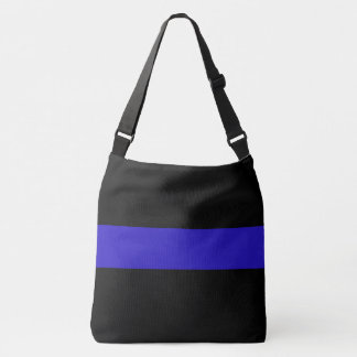 Thin Blue Line Law Enforcement Crossover Bag Tote